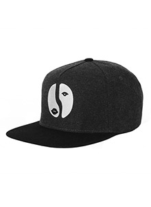 TWO FACE SNAPBACK(CHARCOAL)